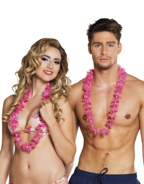 Party-Extra Hawaiikette pink, Impression