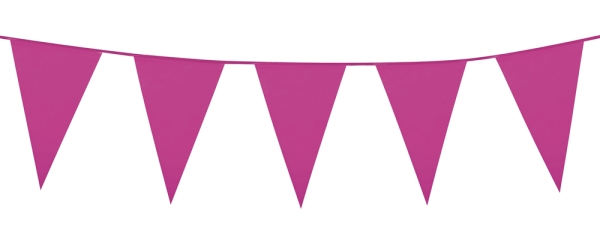 Party-Extra XL-Wimpelkette pink, 10 Meter