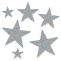 Silver Star Folienstern Set, silber, 6-teilig