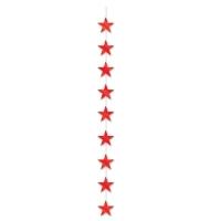 Sternkaskade, rot, 190 cm