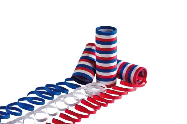 Luftschlangen rot-weiß-blau, 3er Pack