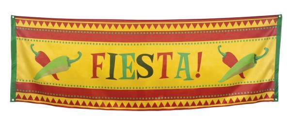Riesen Stoff-Banner Mexikanische Fiesta - Mexikoparty Deko