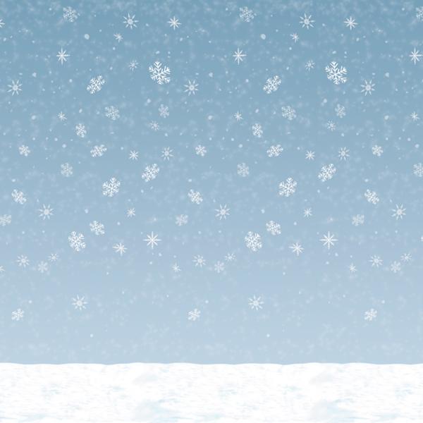 Party-Extra Dekofolie Winterliches Schneetreiben - Après-Ski Deko