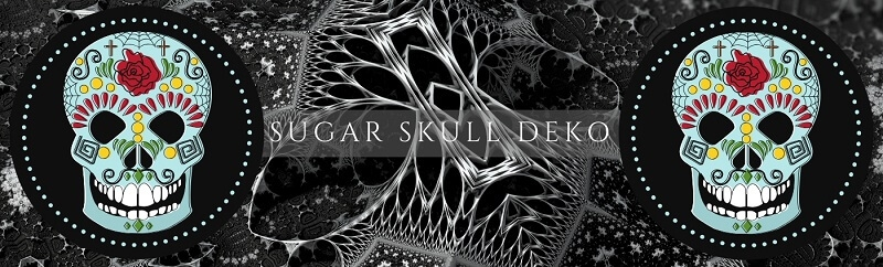 Party-Extra Sugar Skull Dia de Muertos Deko - mexikanisches Halloween