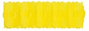 Papier-Girlande gelb - Party Deko