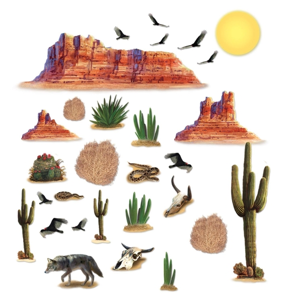 Dekofolien Tödliche Wüste, 29 Motive, 13 - 130cm
