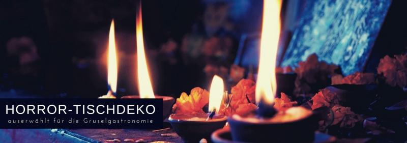 Horror-Tischdeko für die Grusel-Gastronomie zu Halloween