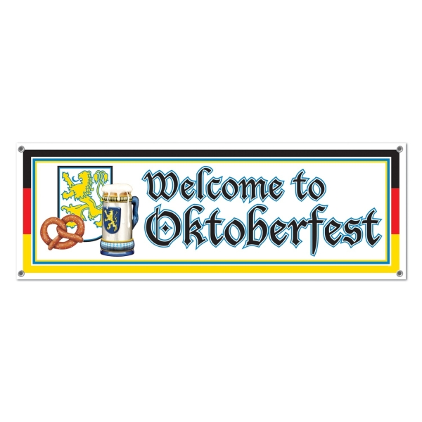 Mega--Partybanner Welcome to Oktoberfest - Bayernparty Deko