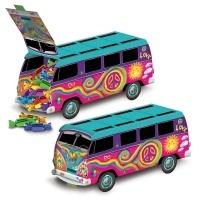 Tischdeko Hippie Bus - 70er Jahre Flower Power Deko