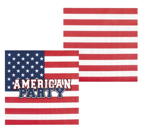 Servietten American Party - USA Deko
