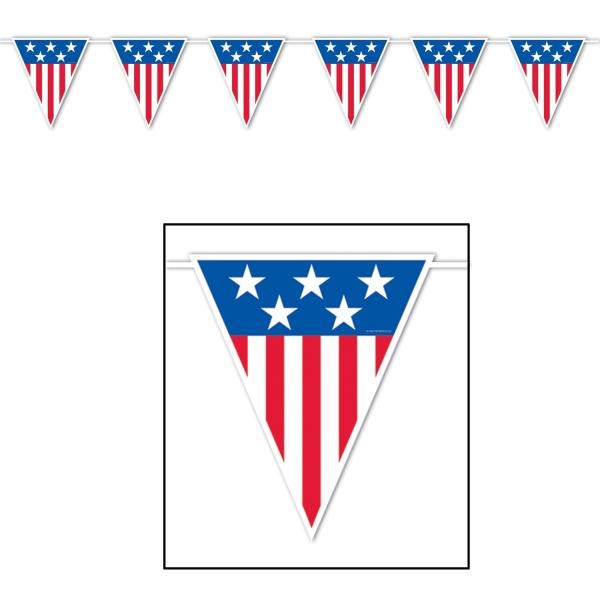 XXL-Wimpelkette USA - Gigantische Amerika-Deko