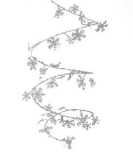 Mini-Drahtgirlande Schneeflocken - Winterparty Deko