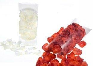Textil-Rosenblätter, weiß oder rot, 150er Pack, 4,5cm Groß