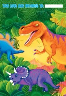 8'er Pack Mitbringseltüten Dinosaurier