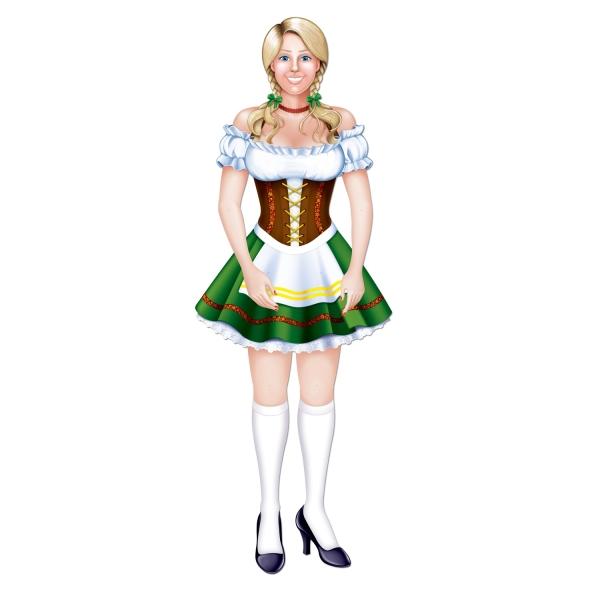 Cutout-Figur Heisses Oktoberfest-Madl - Bayerische Deko