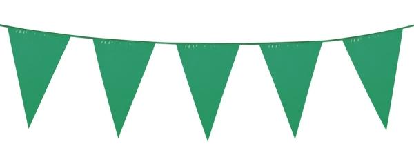 Party-Extra Standard Wimpelkette grün