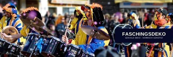 Faschingsdeko zu naerrischen Preisen fuer Karneval + Fasnacht kaufen