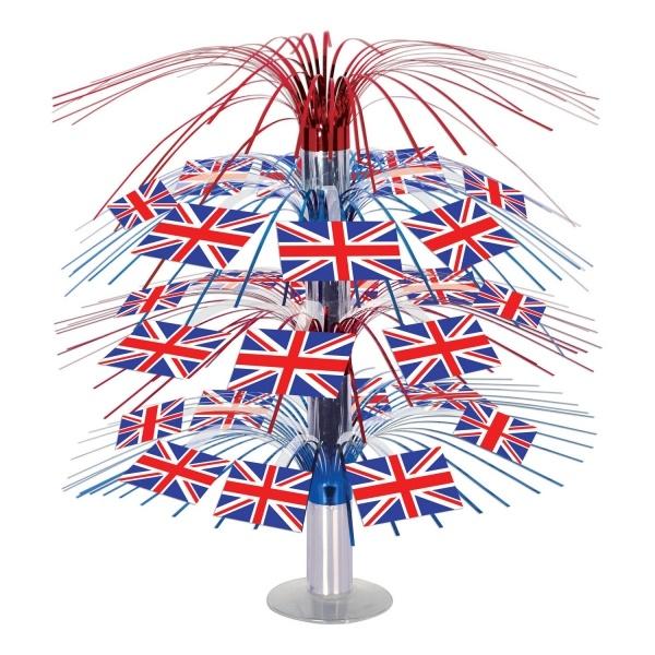 Party-Extra Große Tischkaskade Großbritannien - England Deko