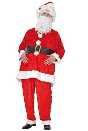 Weihnachtsmann-Anzug mit Bart - Weihnachtsdeko