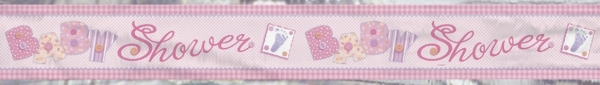 Folien-Banner Rosa Babyparty - Deko zur Geburt + Taufe