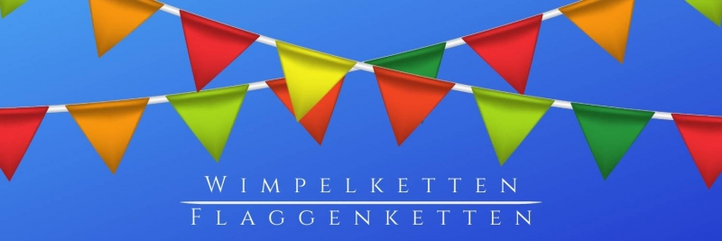 Party-Extra Wimpelketten + Flaggenketten