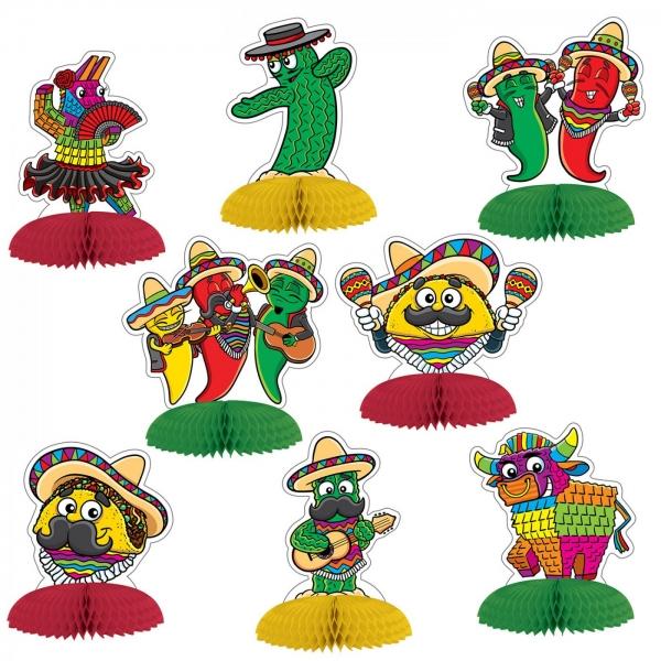 Tischdeko-Set Mexikanische Fiesta - Mexikoparty Deko
