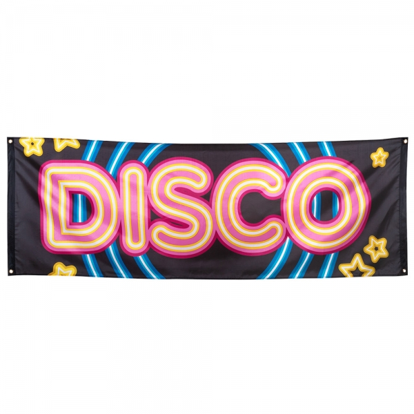 Riesen Stoff-Banner Disco Star - Discoparty Deko