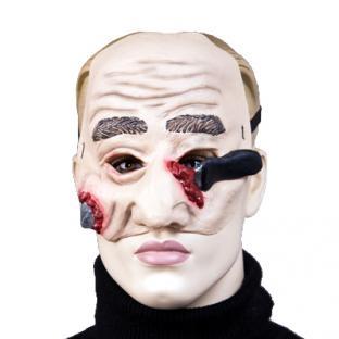 Latex-Halbmaske Messerattacke