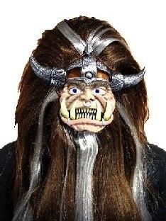 Mini-Maske Schrumpfkopf-Krieger - Halloween Deko