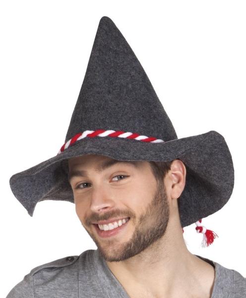 Oktoberfesthut, mit rot-weiße Kordel