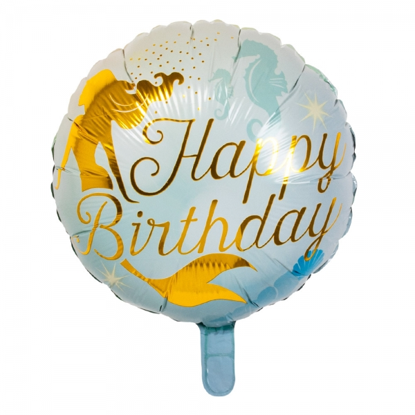 Folienballon Meerjungfrau Happy Birthday