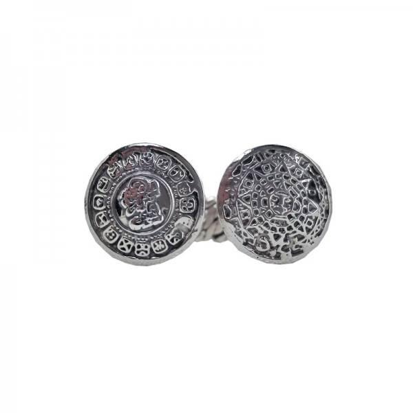 Ring Maya-Azteca, Sterling-Silber