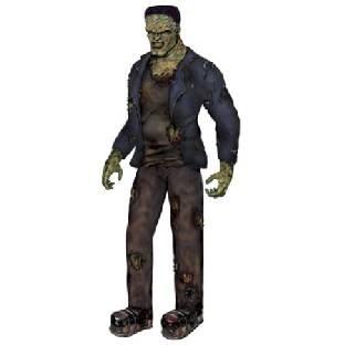 Riesen Cutout-Figur Frankenstein - Zombie Deko