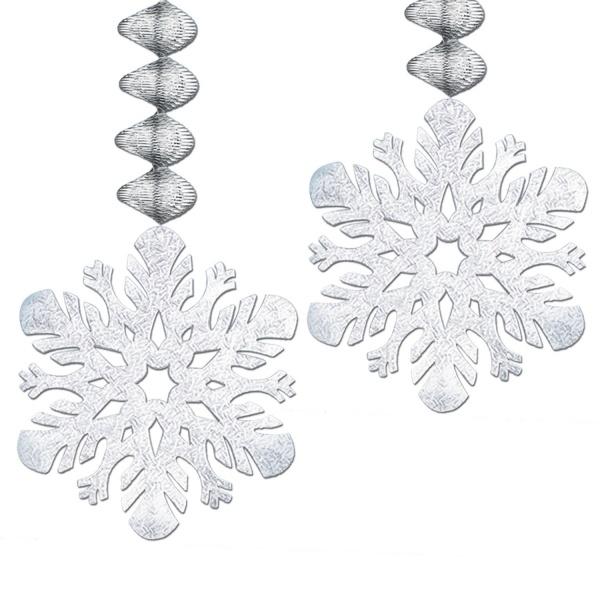Party-Extra Metallic Spiralhänger Eiskristall