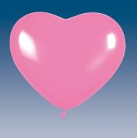 Rosa Herz-Luftballons, 5er Pack, ca 30cm Durchmesser