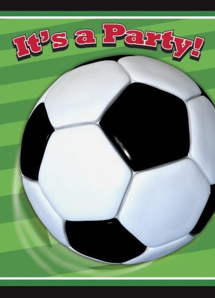 Party-Extra Einladungskarten Profi-Kicker, 8er Pack - Fußballparty Zubehör