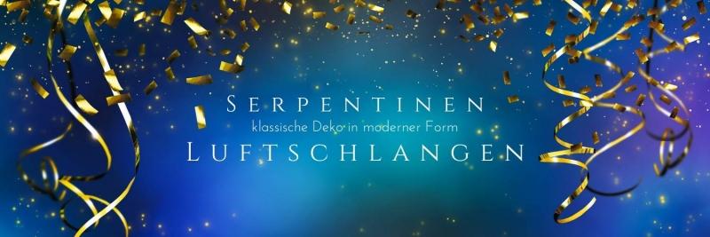 Luftschlangen + Serpentinen - klassische Partydeko in moderner Form