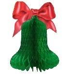 Große grüne Weihnachtsglocke, 60cm groß
