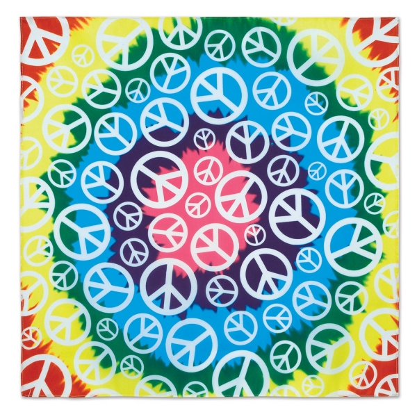 Bandanna Hippie Peace - 70er Jahre Deko