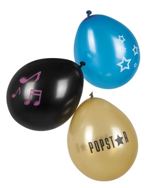 Luftballons Popstar, 6er Pack