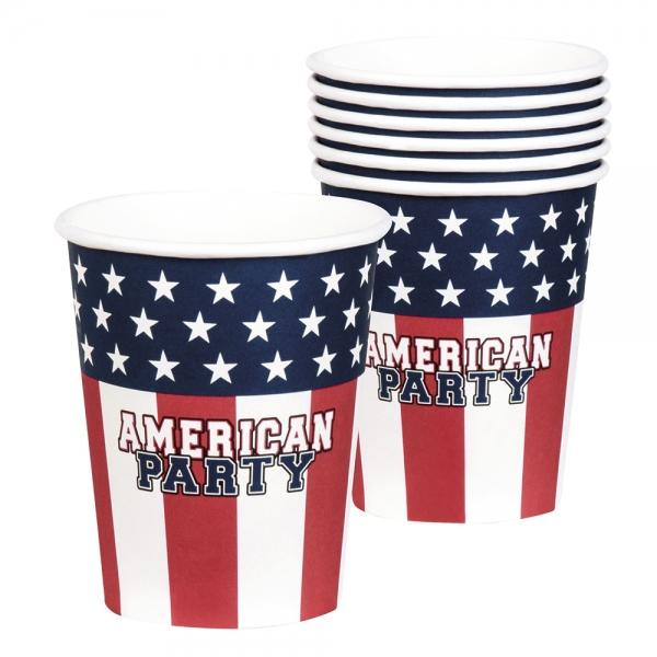 Pappbecher American Party - USA Tischdeko