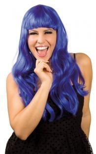 Perücke Chique, blau