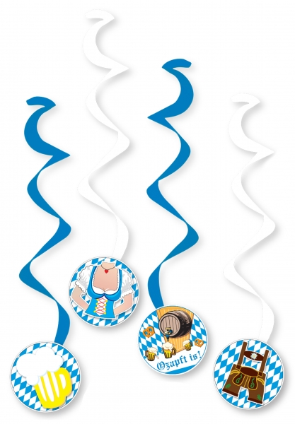 Dekohänger Spirale Oktoberfest - Bayern Partydeko