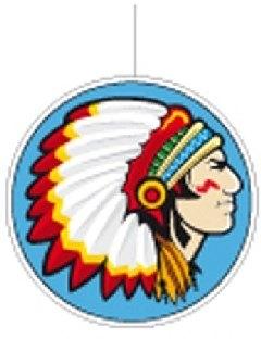 Cutout Dekohänger Indianerhäuptling - Indianer Party Deko
