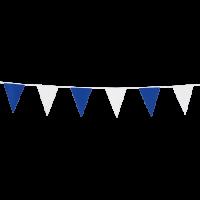 Mini-Wimpelkette blau-weiß, 3 Meter