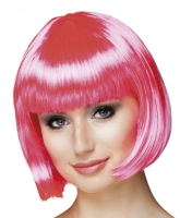 Perücke Cabaret, kräftig leuchtendes pink