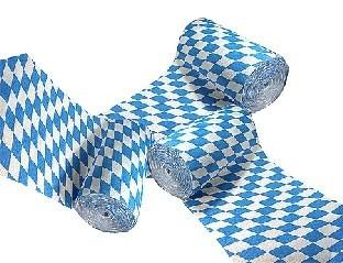 Deko-Krepp Bayern, 3er Pack - Oktoberfest Deko