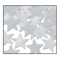 Tischkonfetti Silberne Sterne, 28 g Pack