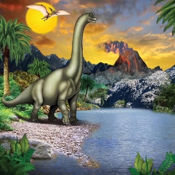 Party-Extra Wanddeko Dinosaurier - Im Reich der Riesenechsen der Urzeit