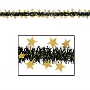 Party-Extra Fransengirlande Golden Starlight